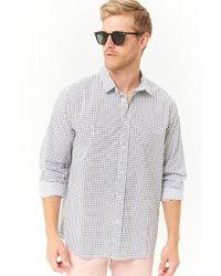 Forever 21 - Grid Print Slim-fit Shirt - Lyst