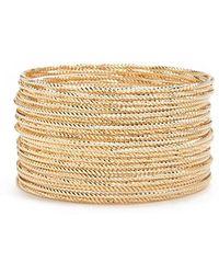 Forever 21 - Textured Bangle Bracelet Set - Lyst