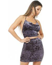 Forever 21 - Crushed Velvet Mini Skirt - Lyst