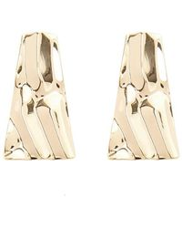 Forever 21 - Crinkled Trapezoid Earrings - Lyst