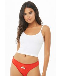 76fa5f698af38 Forever 21 Savage Graphic Seamless Bralette in Red - Lyst