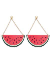 Forever 21 - Watermelon Drop Earrings - Lyst