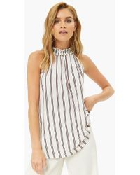 Forever 21 - Striped Crepe Top - Lyst