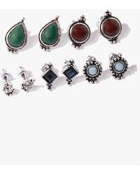 4a7daa9fd ASOS Gem Drop Earrings in Blue - Lyst