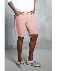 Forever 21 - Bermudas denim lavado uniforme - Lyst