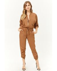Forever 21 - Drawstring Utility Jumpsuit - Lyst
