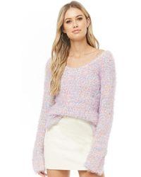 Forever 21 - Women's Multicolor Fuzzy Knit Jumper Sweater - Lyst