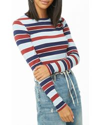 Forever 21 - Striped Long-sleeve Top - Lyst