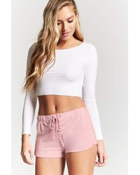 Forever 21 | Lace-up Drawstring Pyjama Shorts | Lyst