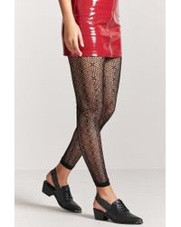 Forever 21 - Geo-cutout Footless Tights - Lyst