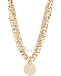 Forever 21 - Women's Curb Chain Necklace Set - Lyst