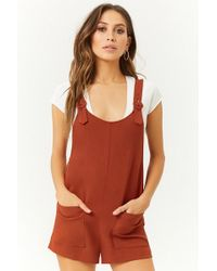 Forever 21 - Boxy Buckle-strap Romper - Lyst