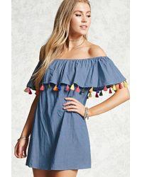 Forever 21   Tasselled Off-the-shoulder Dress   Lyst