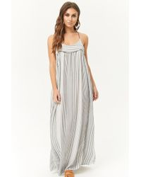 Forever 21 - Striped Halter Maxi Dress - Lyst