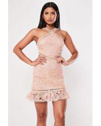 Missguided - Lace Cutout Mini Dress At - Lyst