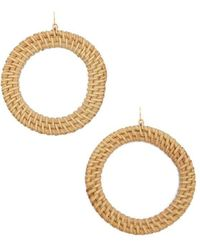 Forever 21 - Wicker Drop Hoop Earrings - Lyst