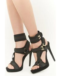 Forever 21 - Shoe Republic Strappy Stiletto Heels - Lyst