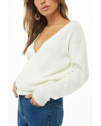Forever 21 - Ribbed Surplice Sweater - Lyst