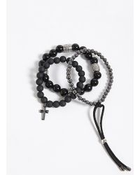 Forever 21 - Men Bead Bracelet Set - Lyst