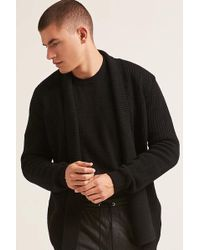 Forever 21 - Open-front Longline Cardigan - Lyst