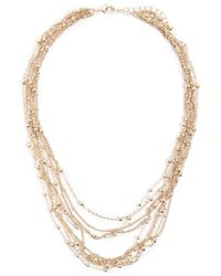 Forever 21 Beaded Layered Necklace , Gold