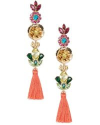 Forever 21 - Iridescent Floral Drop Earrings - Lyst