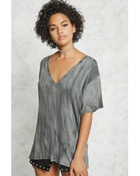 Forever 21 - Contemporary Crinkle Wash Tee - Lyst