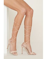 Forever 21 - Lace-up Faux Suede Stilettos - Lyst