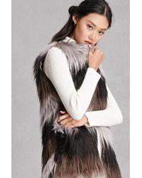 Forever 21 - Alex And Max Faux Fur Vest - Lyst