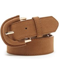 Forever 21 - Faux Suede Buckle Belt - Lyst