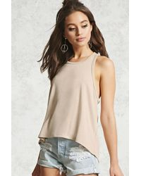 Forever 21 | Ribbed Trapeze-hem Tank | Lyst