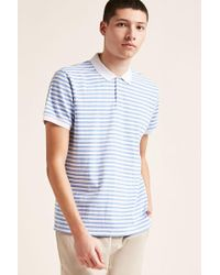 Forever 21 - Solid-trim Stripe Polo - Lyst