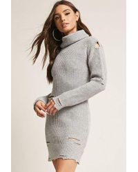 Forever 21 | Turtleneck Sweater Dress | Lyst