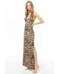 e085d50fa Forever 21 Leopard Print Maxi Dress - Lyst