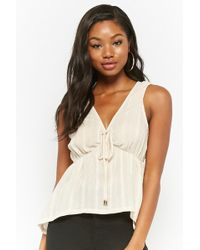 Forever 21 - Shirred High-low Top - Lyst