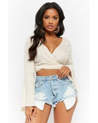 Forever 21 - Distressed High-rise Denim Shorts - Lyst