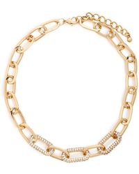 Forever 21 - Women's Chain-link Rhinestone Necklace - Lyst