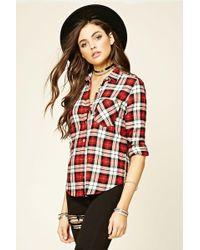 FOREVER21 - Tartan Plaid Shirt - Lyst