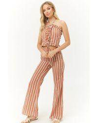 Forever 21 - Ruffled Halter Top & Striped Trouser Set - Lyst