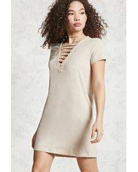 Forever 21   Caged Front T-shirt Dress   Lyst
