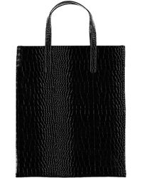 Forever 21 - Faux Croc Leather Tote - Lyst