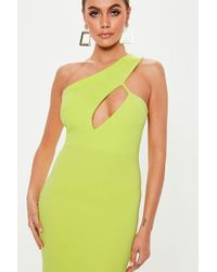 Missguided - One-shoulder Midi Dress At - Lyst