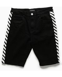 Forever 21 - Victorious Contrast Stripe Denim Shorts - Lyst