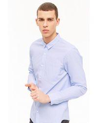 Forever 21 - Curved Hem Pocket Shirt - Lyst