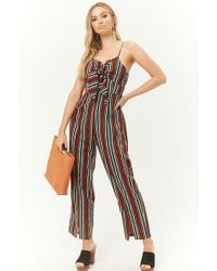 dd21530186f3 Lyst - Forever 21 Self-tie Knotted Floral Jumpsuit You ve Been Added ...