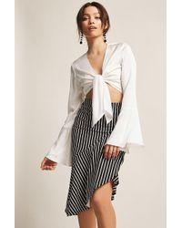 Forever 21 - Stripe Asymmetrical Skirt - Lyst