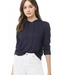 Forever 21 - Drawstring Hooded Top - Lyst