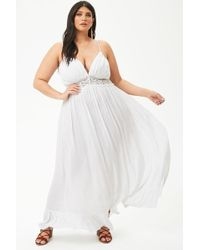 88cad03eb84 Forever 21 Women s Plus Size Boho Me Crochet-trim Maxi Dress in ...