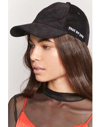 aec386cf09f Forever 21 - Embroidered Corduroy Dad Cap - Lyst