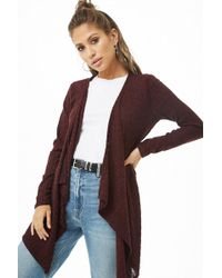 Forever 21 - Ribbed Brushed Knit Cardigan - Lyst